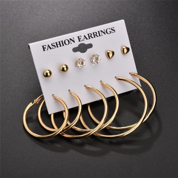 19933 18b425 600x600 - Modyle New Hot Sell Small Stud Earrings Set For Women Girl Punk Stud Earrings Set Personality Party Jewelry Fashion Brincos