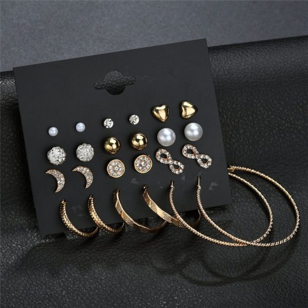 19933 5f6820 600x600 - Modyle New Hot Sell Small Stud Earrings Set For Women Girl Punk Stud Earrings Set Personality Party Jewelry Fashion Brincos