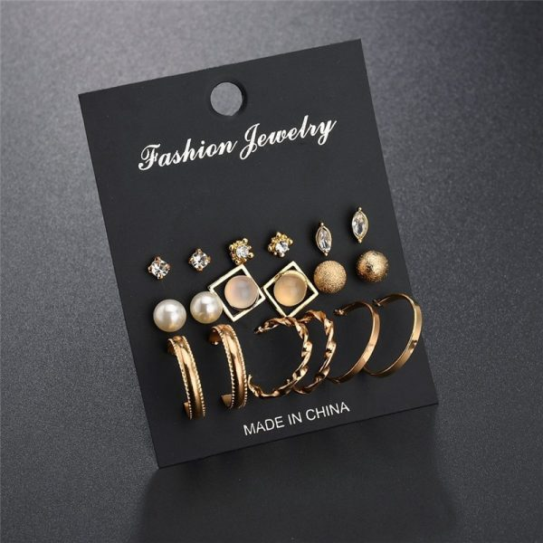 19933 8e1287 600x600 - Modyle New Hot Sell Small Stud Earrings Set For Women Girl Punk Stud Earrings Set Personality Party Jewelry Fashion Brincos