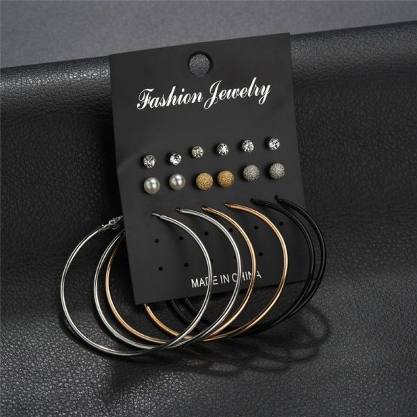 19933 c9ff65 600x600 - Modyle New Hot Sell Small Stud Earrings Set For Women Girl Punk Stud Earrings Set Personality Party Jewelry Fashion Brincos