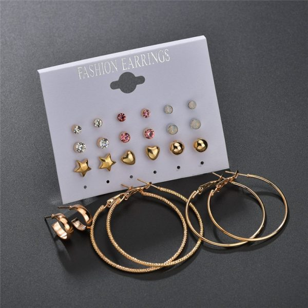 19933 cca094 600x600 - Modyle New Hot Sell Small Stud Earrings Set For Women Girl Punk Stud Earrings Set Personality Party Jewelry Fashion Brincos