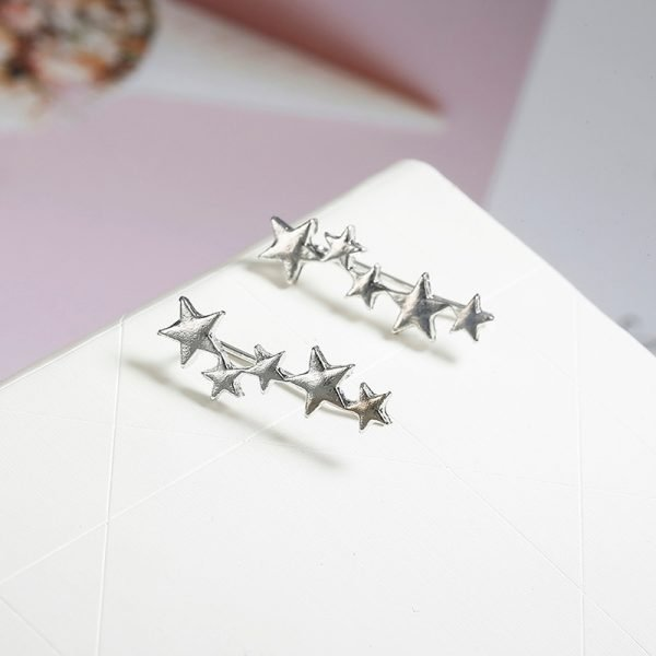 19950 6744db 600x600 - Moon Star Ear Climber Tiny Star Moon Stud Earrings For Women Everyday Teen Mothersday Celestial Birthday Gift Jewelry Earrring