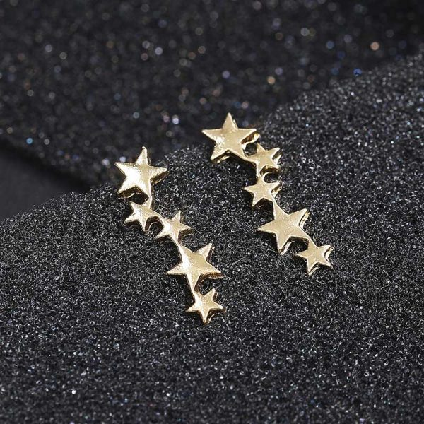 19950 b62dc1 600x600 - Moon Star Ear Climber Tiny Star Moon Stud Earrings For Women Everyday Teen Mothersday Celestial Birthday Gift Jewelry Earrring