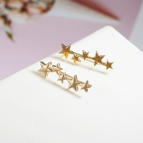 19950 c3b0f1 600x600 - Moon Star Ear Climber Tiny Star Moon Stud Earrings For Women Everyday Teen Mothersday Celestial Birthday Gift Jewelry Earrring