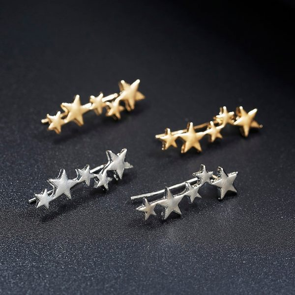 19950 f5e13e 600x600 - Moon Star Ear Climber Tiny Star Moon Stud Earrings For Women Everyday Teen Mothersday Celestial Birthday Gift Jewelry Earrring