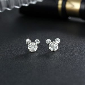 20283 37e9c6 300x300 - Silver Romantic Round Mouse Earring Female Charm Stud Earrings Women Jewelry Girls Kid Birthday Gift Cute Animal Earrings