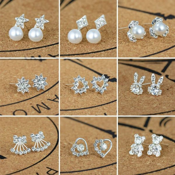 20283 941cb5 600x600 - Silver Romantic Round Mouse Earring Female Charm Stud Earrings Women Jewelry Girls Kid Birthday Gift Cute Animal Earrings