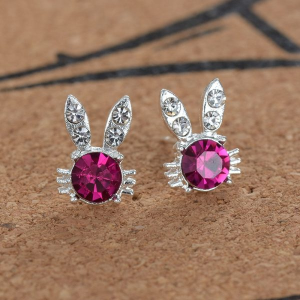 20283 e48faa 600x600 - Silver Romantic Round Mouse Earring Female Charm Stud Earrings Women Jewelry Girls Kid Birthday Gift Cute Animal Earrings