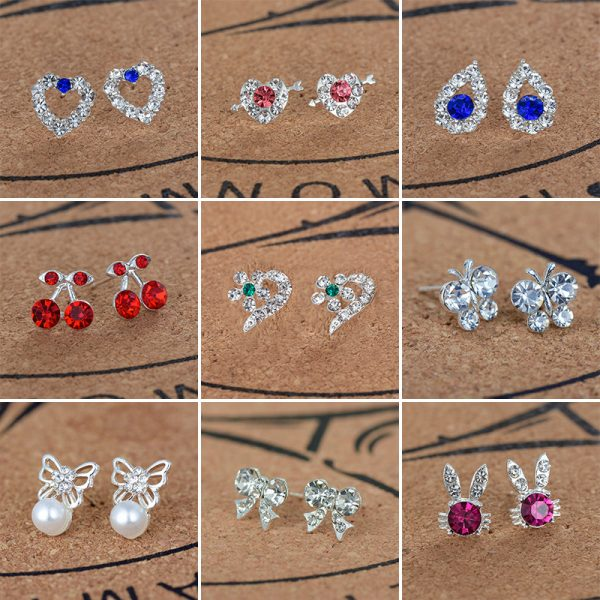 20283 fe0a9f 600x600 - Silver Romantic Round Mouse Earring Female Charm Stud Earrings Women Jewelry Girls Kid Birthday Gift Cute Animal Earrings