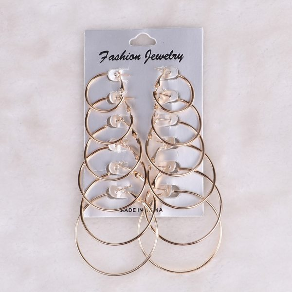 21413 a4d33a 600x600 - 12 Pairs Hoop Earrings Set Big Circle Earring Fashion Jewelry for Women Girls Steampunk Ear Clip korean Earrings 2019