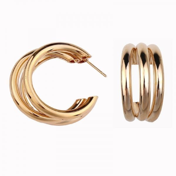 21453 127bd6 600x600 - Trendy Fashion Metal Elegant Hoop Earring Woman 2019 New Vintage Gold Color Cheap korean Statement Earrings Accessories brincos