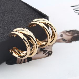 21453 46e94c 300x300 - Trendy Fashion Metal Elegant Hoop Earring Woman 2019 New Vintage Gold Color Cheap korean Statement Earrings Accessories brincos