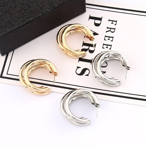 21453 a3d386 600x600 - Trendy Fashion Metal Elegant Hoop Earring Woman 2019 New Vintage Gold Color Cheap korean Statement Earrings Accessories brincos