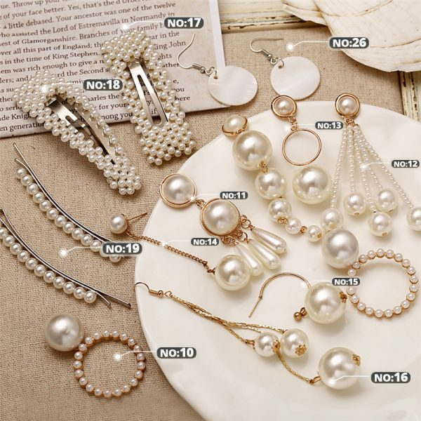 21506 1eff67 600x600 - 17KM Oversize Pearl Hoop Earrings For Women Girls Unique Twisted Big Earrings Circle Earring Brinco Statement Fashion Jewelry