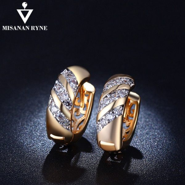 21675 2e81ed 600x600 - MISANANRYNE Classic Design Gold Color AAA CZ Wedding Hoop Earrings for Women Fashion jewelry Design Gift Accessories