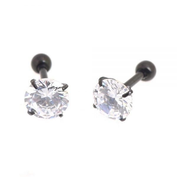 21817 2496e0 600x600 - 2 PC Surgical Steel Prong Set Zircon Crystal Ear Cartilage Tragus Helix Piercing Bar Top Upper Stud Earring Tunnel Plugs 16g