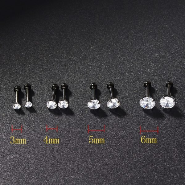 21817 3e1271 600x600 - 2 PC Surgical Steel Prong Set Zircon Crystal Ear Cartilage Tragus Helix Piercing Bar Top Upper Stud Earring Tunnel Plugs 16g