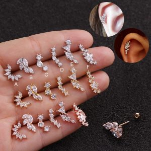 21864 6c3beb 300x300 - Feelgood Rose Gold Color Curved Cz Cartilage Stud Helix Rook Conch Screw Back Earring 20g Stainless Steel Ear Piercing Jewelry