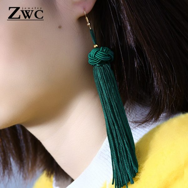 22180 1d3238 600x600 - ZWC Vintage Ethnic Long Tassel Drop Earrings for Women Lady Fashion Bohemian Statement Fringe Dangle Women Earring 2019 Jewelry