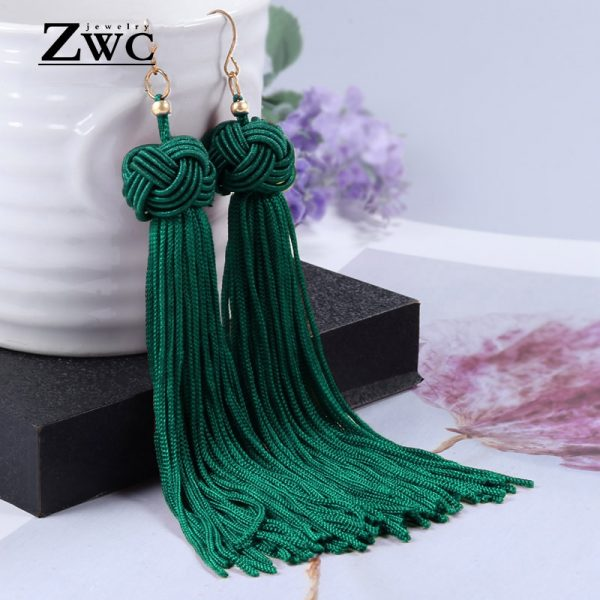 22180 49df7a 600x600 - ZWC Vintage Ethnic Long Tassel Drop Earrings for Women Lady Fashion Bohemian Statement Fringe Dangle Women Earring 2019 Jewelry