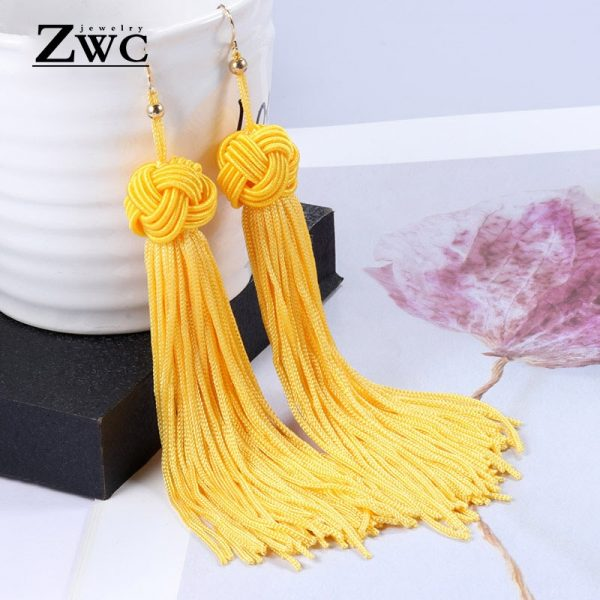 22180 bc89fc 600x600 - ZWC Vintage Ethnic Long Tassel Drop Earrings for Women Lady Fashion Bohemian Statement Fringe Dangle Women Earring 2019 Jewelry