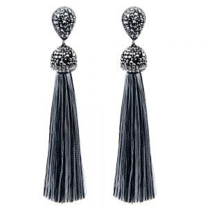 22394 cc29e6 300x300 - Handmade 12 Colors Long Tassel Earrings Bohemian Black Red Pink White Blue Silk Crystal Dangle Drop Earrings For Women Jewelry
