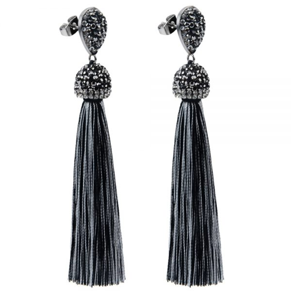 22394 e0cb6b 600x600 - Handmade 12 Colors Long Tassel Earrings Bohemian Black Red Pink White Blue Silk Crystal Dangle Drop Earrings For Women Jewelry