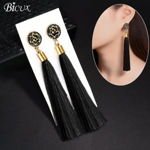 22427 cdfa01 300x300 - BICUX Black Crystal Flower Fringe Earings Earing Geometric Long Dangle Tassel Earrings For Women 2019 Fashion Jewelry Oorbellen