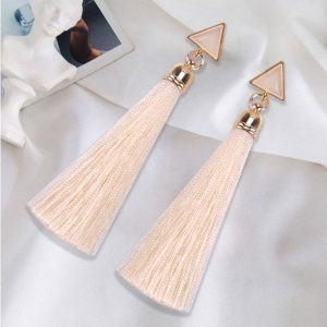 22454 c6b364 300x300 - Bohemian Crystal Long Tassel Earrings Black Blue Red Pink Silk Fabric Drop Dangle Earrings Women Jewelry For Party Beach