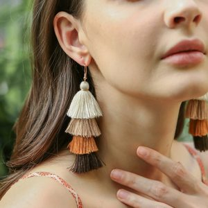 22517 5b0344 300x300 - Hot Bohemian Fringe Long Gradient Multilayer Drop Earrings Women Fashion Jewelry Dangle Silk Fabric Ethnic tassel earrings