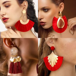 22763 6b14d7 300x300 - BLINLA Fashion Bohemian Big Tassel Dangle Drop Earrings for Women Statement Wedding Red Fringe Female Earrings Za 2019 Jewelry