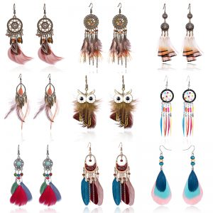 22769 0aa23b 300x300 - Tassel Dangle Long Earrings For Women Owl Leaf feather earrings Brincos Bijoux Jewelry Wedding Earrings Bride Jewelry