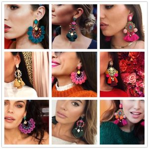 22880 cec6c6 300x300 - Luxury Pendant Tassel Statement Earrings