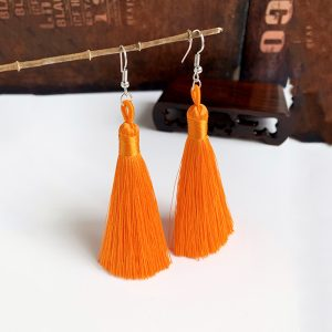 22894 b739e2 300x300 - Handmade Tassel Earrings 2019 Trendy Bohemian orange 25 colors Long Dangles Vintage Tassel Earrings For Women Jewelry