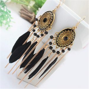 23163 6bf4ca 300x300 - ZOSHI 2020 Long Tassel Fashion Feather Style Ethnic Boho Big Dangle Statement Earring Wedding Earrings Accessories Wholesale