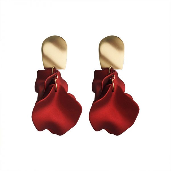 23657 0d1c74 600x600 - Sexy Statement Red Flower Petal Earrings For Women 2019 New Hot Jewelry Pendientes