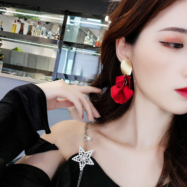 23657 d29c7a 600x600 - Sexy Statement Red Flower Petal Earrings For Women 2019 New Hot Jewelry Pendientes