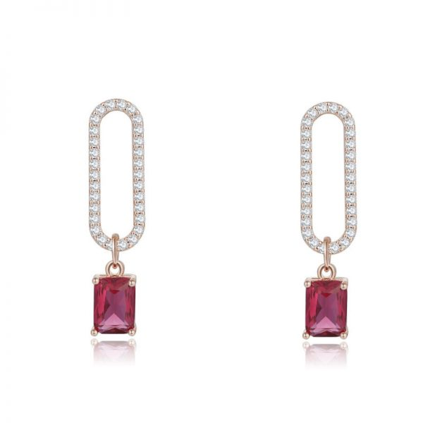 23734 c7c61d 600x600 - 2019 New Arrival Korean Crystal Simple Red Earrings Trendy Geometric Women Dangle Drop Earrings Jewelry Earrings