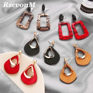 23765 4eebe2 300x300 - Trendy Party Jewelry Vintage 2019 Women's Fashion Statement Earring Red  Brown Black Color Long Wooden Brincos Wedding Gift