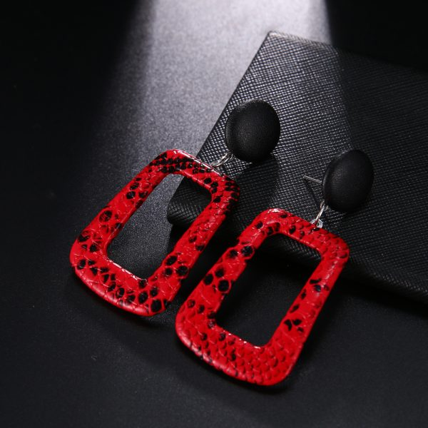 23765 a9af89 600x600 - Trendy Party Jewelry Vintage 2019 Women's Fashion Statement Earring Red  Brown Black Color Long Wooden Brincos Wedding Gift