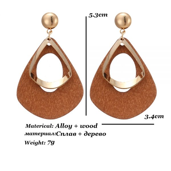 23765 b3eb09 600x600 - Trendy Party Jewelry Vintage 2019 Women's Fashion Statement Earring Red  Brown Black Color Long Wooden Brincos Wedding Gift