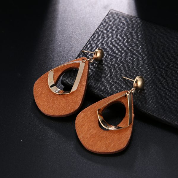 23765 eecfc4 600x600 - Trendy Party Jewelry Vintage 2019 Women's Fashion Statement Earring Red  Brown Black Color Long Wooden Brincos Wedding Gift