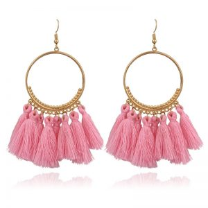 23813 4ce859 300x300 - 2019 New Fashion Bohemian Tassel Gold Metal Long Earrings White Red Silk Fabric Drop Dangle Tassel Earrings for Women Jewelry