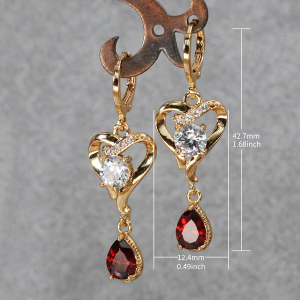23834 07e680 600x600 - Trendy Vintage Drop Earrings For Women Gold Filled  Red Green Pink Lavender Zircon Earrings Gold  Earring Wedding  Jewelry