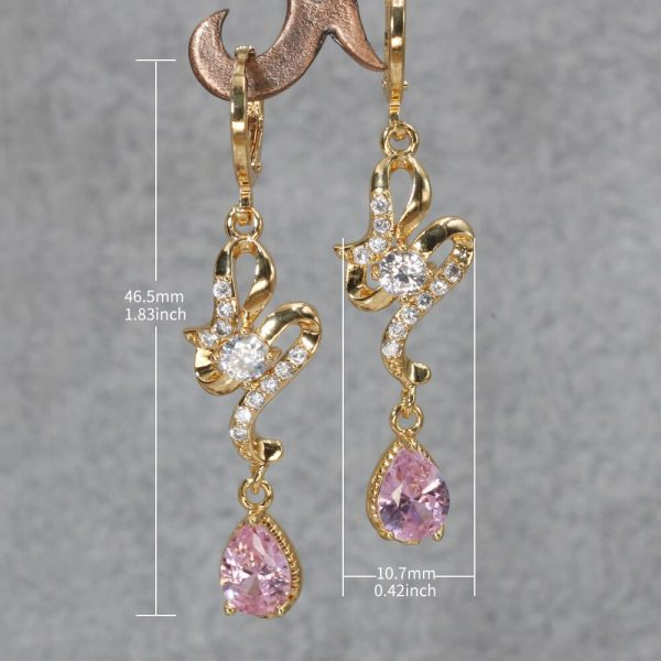 23834 607979 600x600 - Trendy Vintage Drop Earrings For Women Gold Filled  Red Green Pink Lavender Zircon Earrings Gold  Earring Wedding  Jewelry