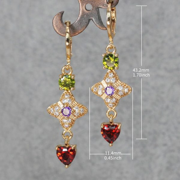 23834 a52b0a 600x600 - Trendy Vintage Drop Earrings For Women Gold Filled  Red Green Pink Lavender Zircon Earrings Gold  Earring Wedding  Jewelry