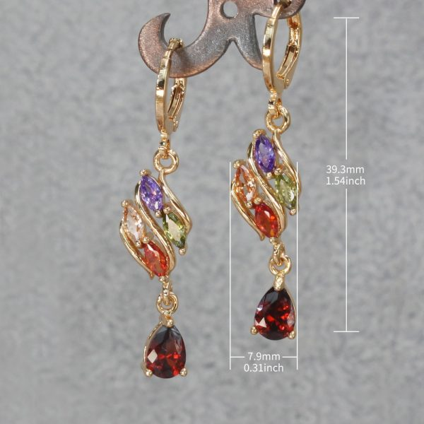 23834 f056d2 600x600 - Trendy Vintage Drop Earrings For Women Gold Filled  Red Green Pink Lavender Zircon Earrings Gold  Earring Wedding  Jewelry
