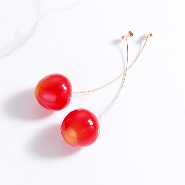 23870 5b456c 600x600 - Cute Fruit Cherry Earrings Acrylic Long Red Earrings For Women Removable Elegant Jewelry Wedding Accessories Christmas Gifts