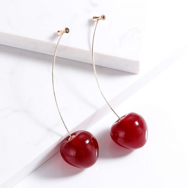 23870 b60be7 600x600 - Cute Fruit Cherry Earrings Acrylic Long Red Earrings For Women Removable Elegant Jewelry Wedding Accessories Christmas Gifts