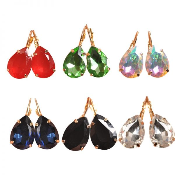 23964 8b7158 600x600 - The new fashion gorgeous women's jewelry wholesale girls birthday party red and white black blue-green beautiful earring earring